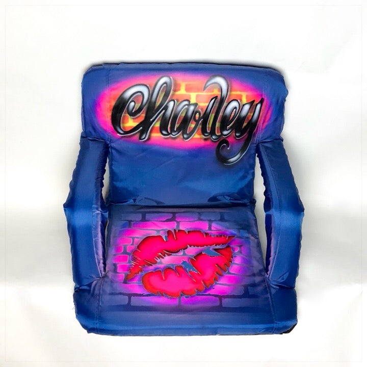 Airbrushed Cuatom Camp Chair with Arms