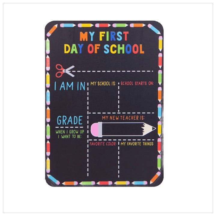Personalized First Day of School Sign-The Canteen - Board