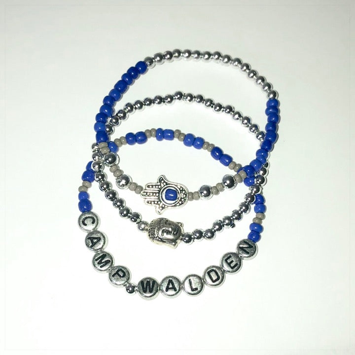 Three Strand Metallic Bracelet Set