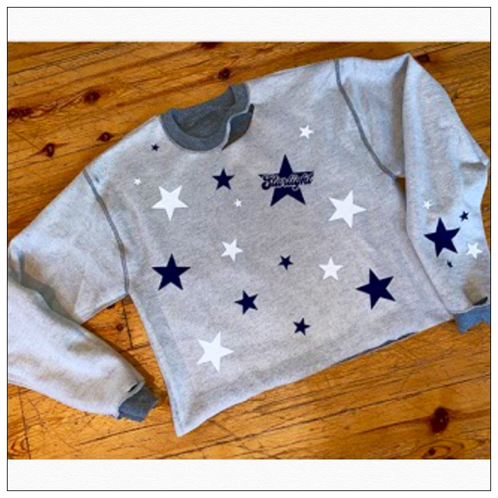 Custom Camp Reverse Starry Cropped Sweatshirt - The Canteen