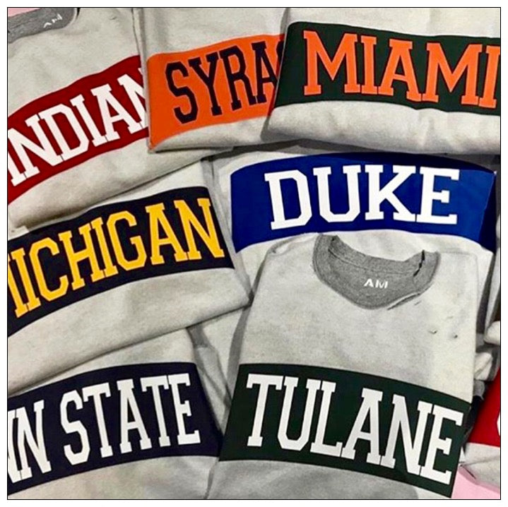 Reverse Raw Edge Distressed Holey College Sweatshirt - The Canteen