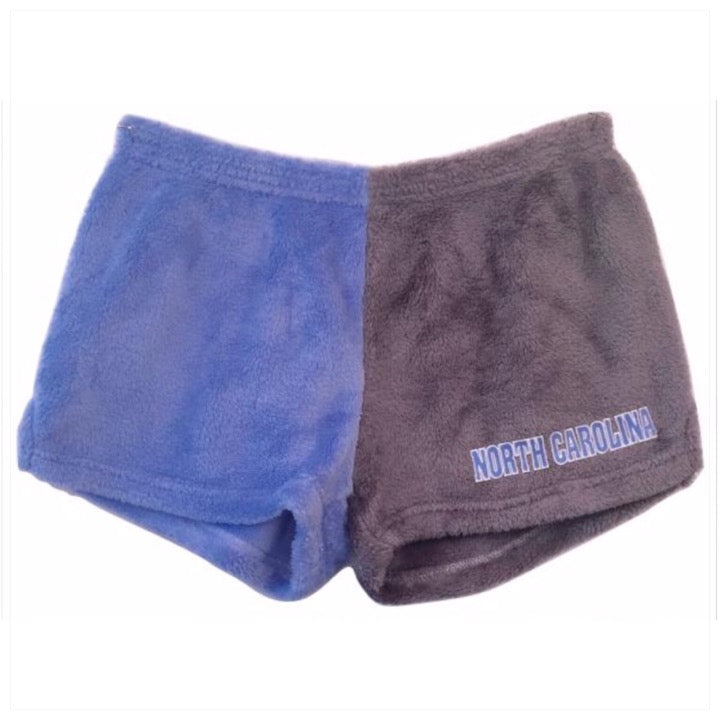 Fuzzy Color Block College Shorts -The Canteen - UNC