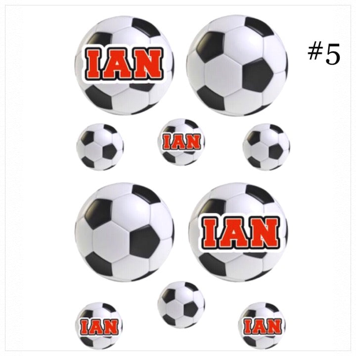 Personalized Cling Its- The Canteen - soccer