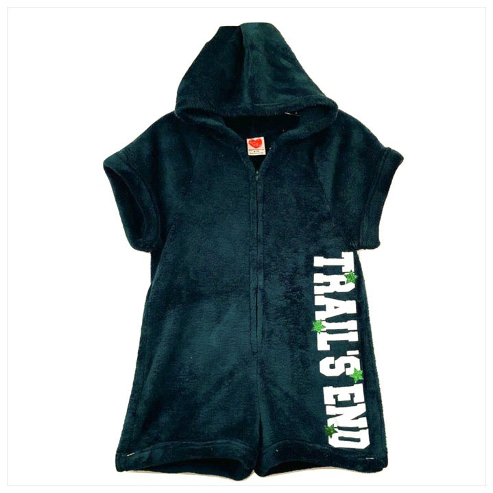 Custom Camp Fuzzy Hooded Romper