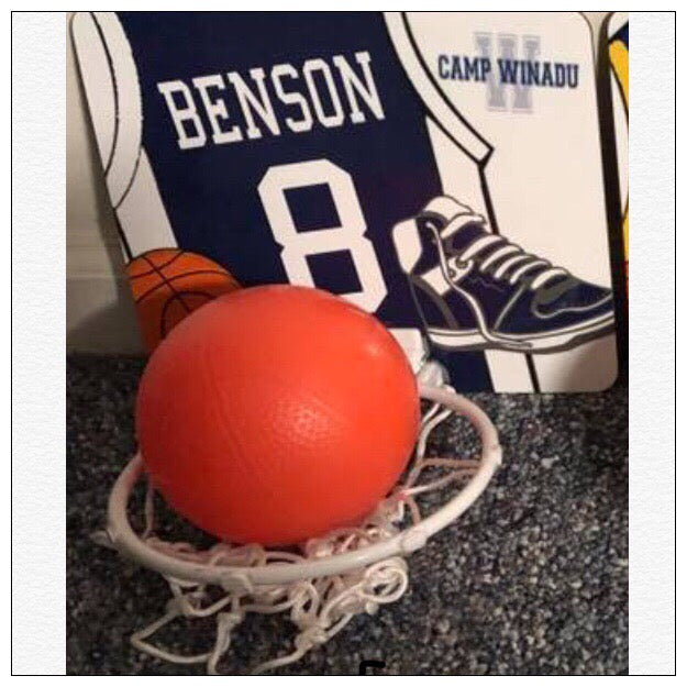 Personalized Camp Mini Basketball Hoop