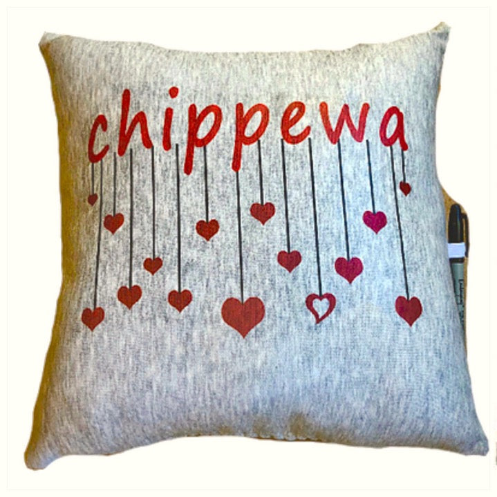 Custom Camp Hearts Autograph Pillow-The Canteen - Chippewa