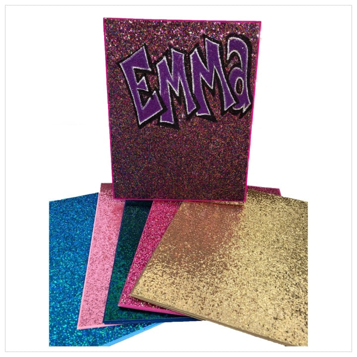 Personalized Glitter Folders- The Canteen