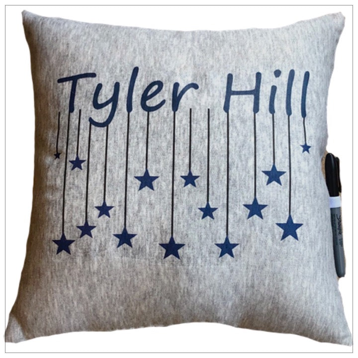 Custom Camp Falling Stars Pillow - The Canteen - Tyler Hill
