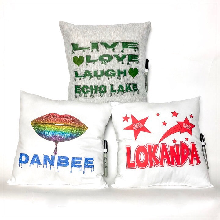 Custom Camp Autograph Pillows - The Canteen