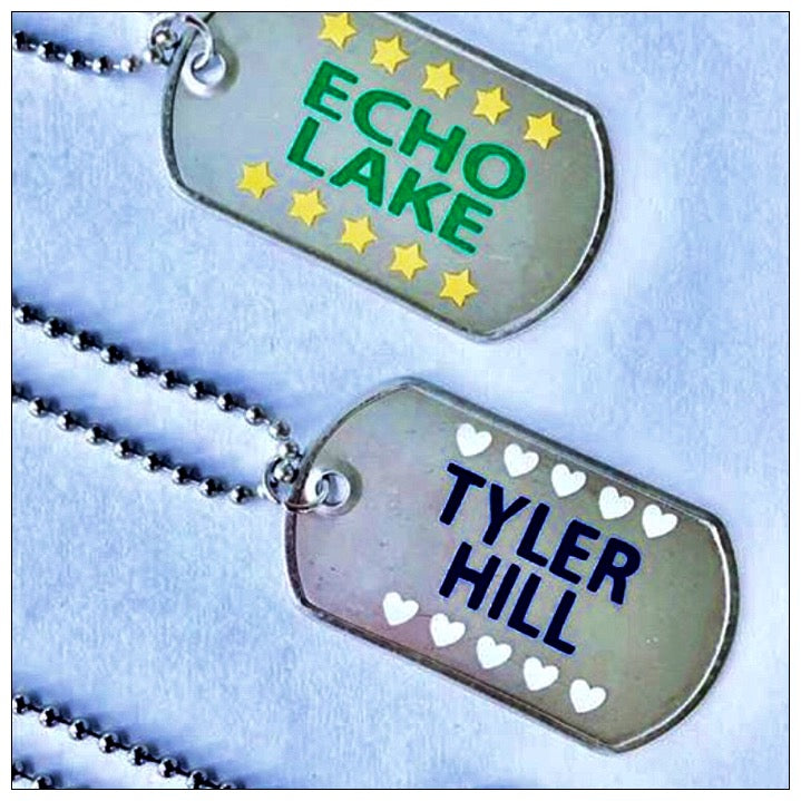 Custom Camp ID Name Tag Necklace