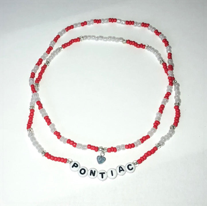 Two Strand College or Camp Name Choker - The Canteen