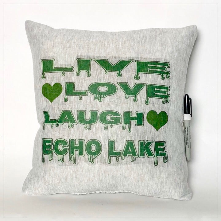Custom Camp Autograph Pillow, Live Love Laugh - The Canteen