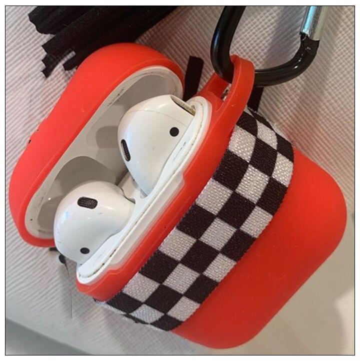 Custom AirPod Case- TheCanteen- Black and White Checkered