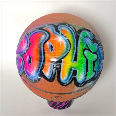 Football with Airbrushed Name