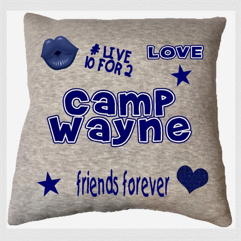Custom Camp Sequin Pillow - Champ