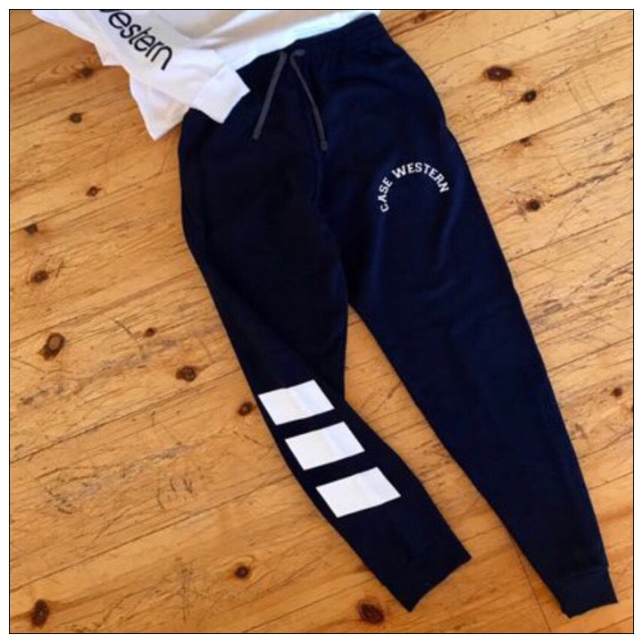 Tri Stripe College Jogger - Case Western- The Canteen