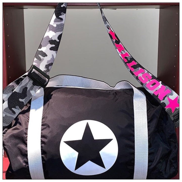 Custom Star Stuffer Duffel and Guitar Strap - The Canteen - Black