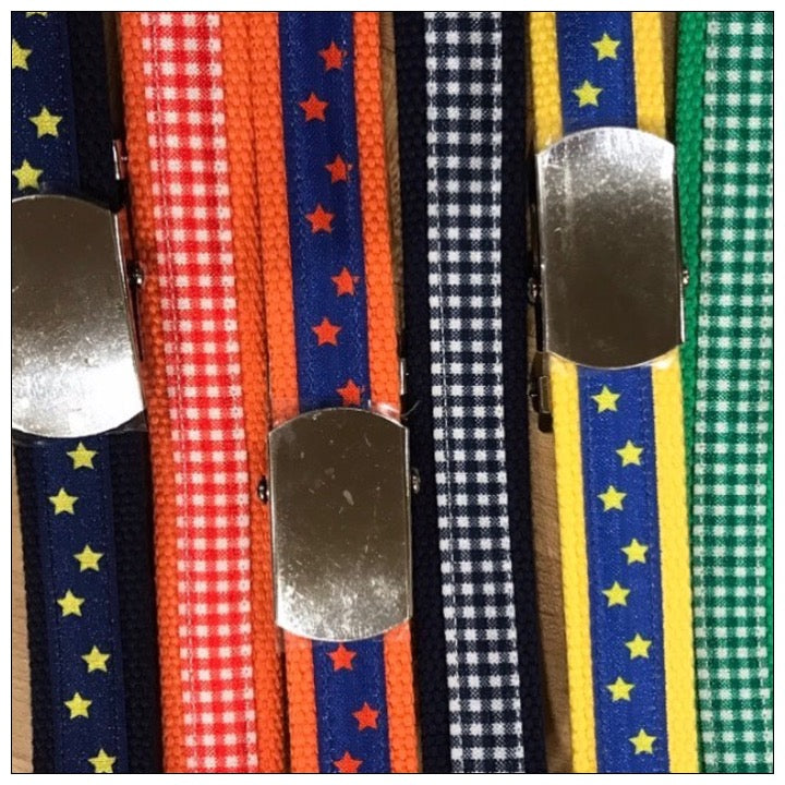 Custom Slide Belt - The Canteen - Gingham and Stars