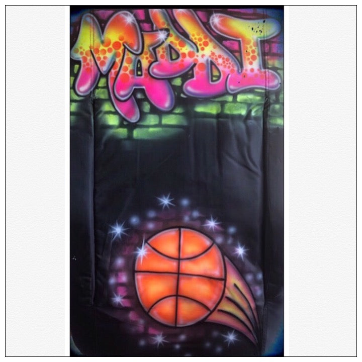 Airbrushed Custom Camp Chair with Arms - The Canteen