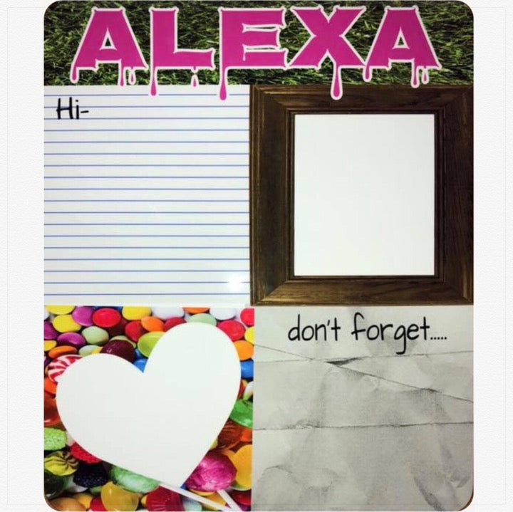 Personalized Wipe Board - Candy - The Canteen