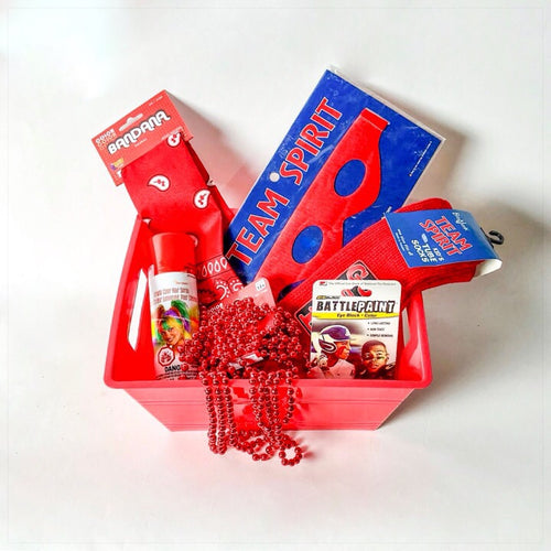 Red Color War Basket - The Canteen