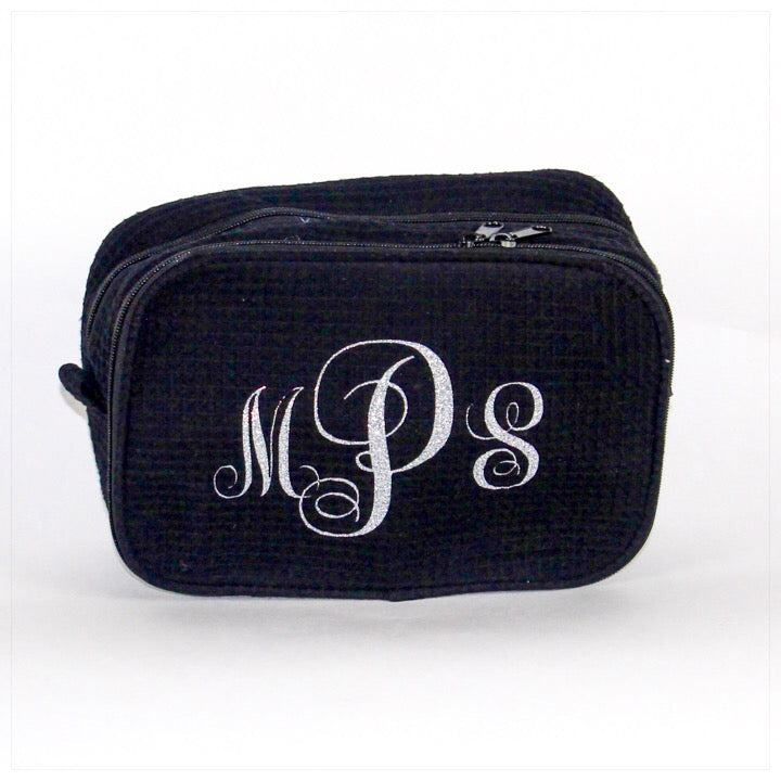 Pesronalized Cosmetic Bag Black Monogram - The Canteen