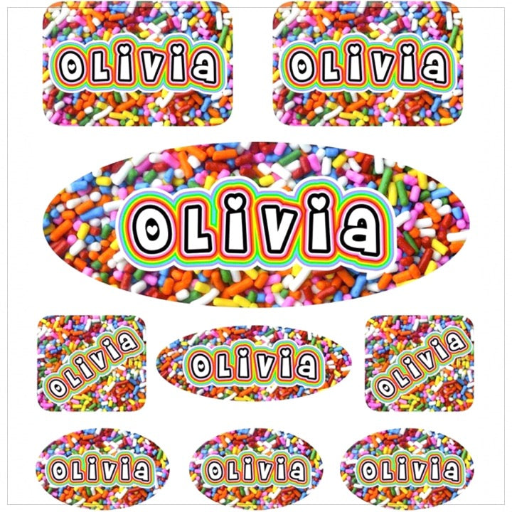 Personalized Cling Its 14 Up - The Canteen-Sprinkles Bubbly Rainbow
