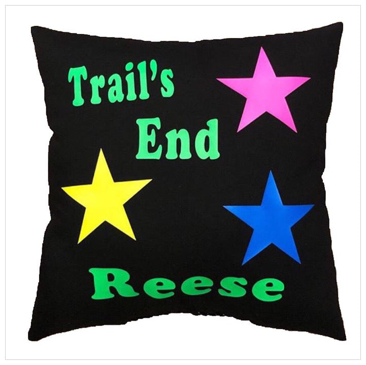 Custom Camp Neon Stars Pillow - The Canteen - Trails End