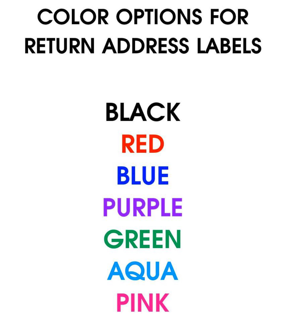 Return Address Labels - The Canteen
