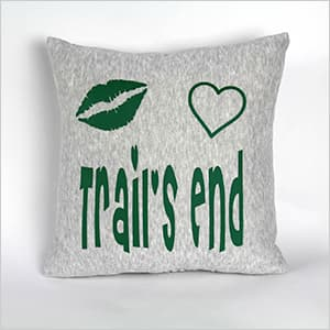 Custom Camp Lips and Heart Pillow - The Canteen