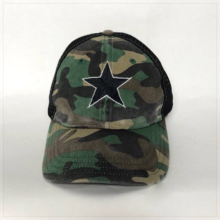 Custom Embroidered Trucker Hat - The Canteen - Camo Star