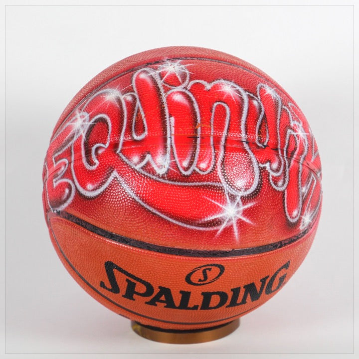 Basketball with Airbrushed Name - The Canteen