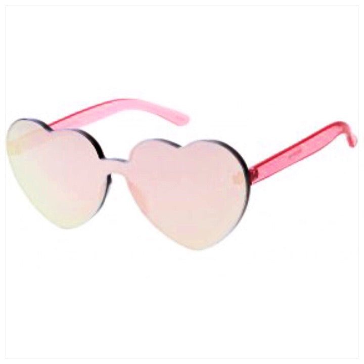 Custom Heart Shaped Sunglasses Mirrored - The Canteen