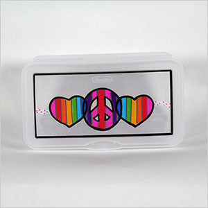 Personalized Hinged Shoebox - The Canteen-peace hearts