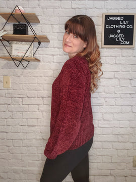 Love Yourself Chenille Sweater
