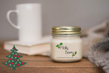 Christmas Candle - Holly Berry