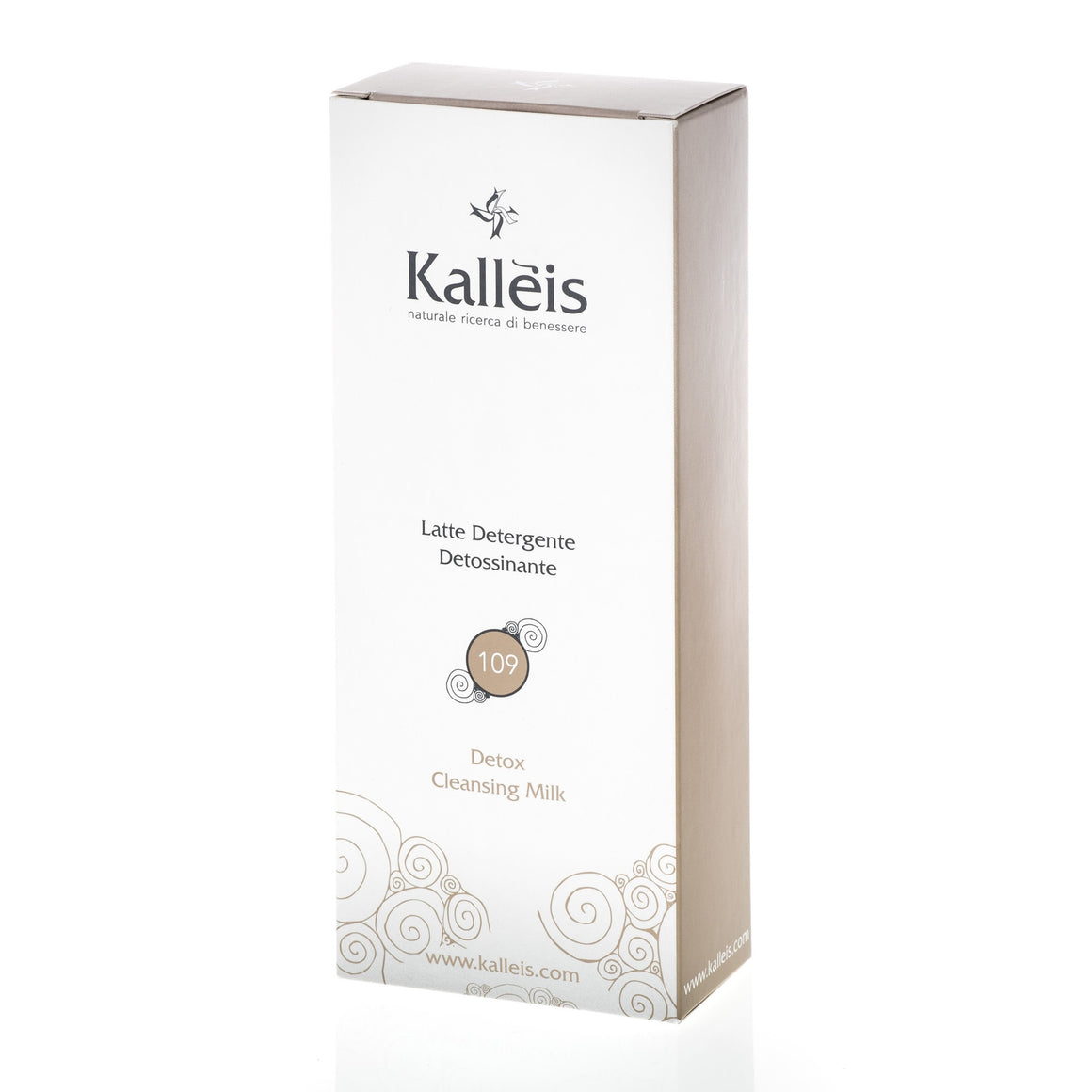 Kallèis Detox Cleansing Milk is enriched with soothing moisturizing properties from Vitamin E, Soy Protein Hydrolysate and Ivy Extract to preserve the skin's softness