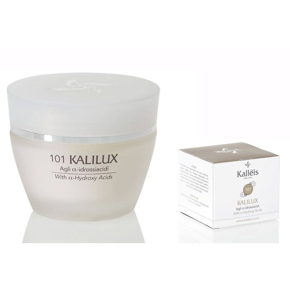 Treat your skin with Kalléis' Kalilux with Alpha-Hydroxy, a lightweight but highly effective, concentrated moisturizer that complements your skin's natural antioxidant properties and provides round-the-clock hydration for healthy, supple and radiant skin.