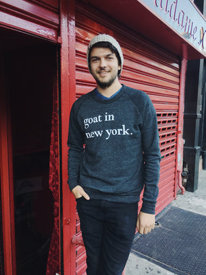 Goat In New York Sweatshirt Charcoal
