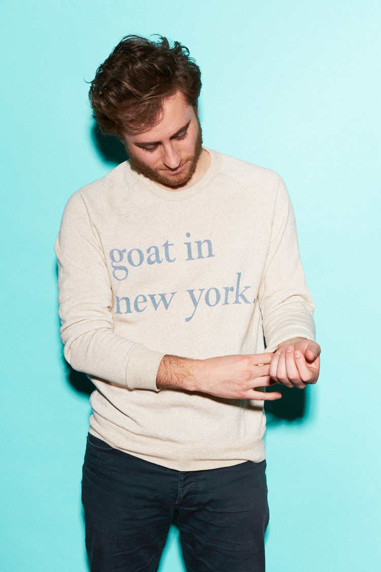Goat In New York Sweatshirt Oatmeal