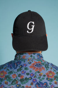 Cotton Twill Black Hat / White G