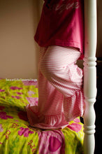 Girls Striped Handmade Ruffled Pants Inspired By Matilda Jane