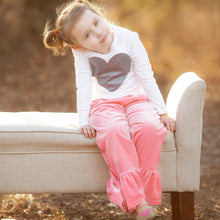 Childrens Handmade Velvet Ruffle Pants