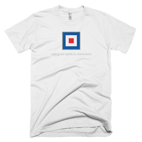 I Require Medical Assistance - Signal Flag T-Shirt