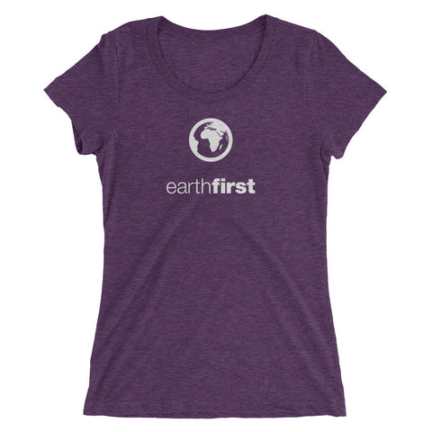 earth first - Ladies' short sleeve t-shirt