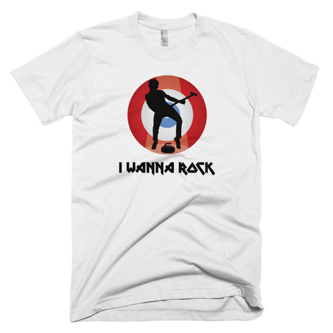 I Wanna Rock - Color/Male - Curling T-Shirt