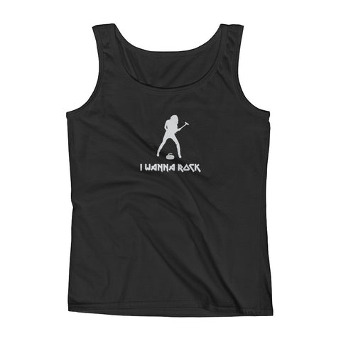 I Wanna Rock - Ladies' Curling Tank