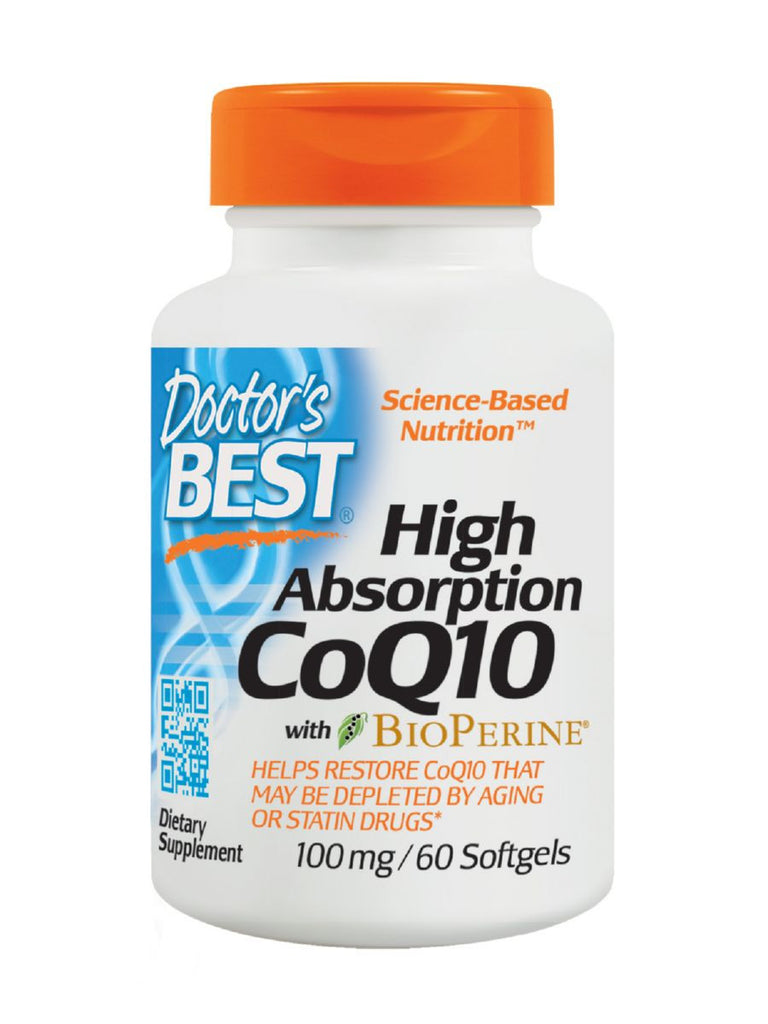 High Absorption CoQ10 with BioPerine, 100 mg, 60 soft gels, Doctor's Best