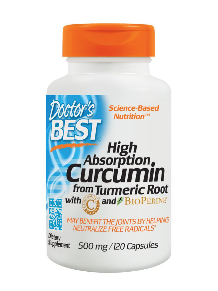 Best Curcumin C3 Complex with BioPerine, 500mg, 120 ct, Doctor's Best