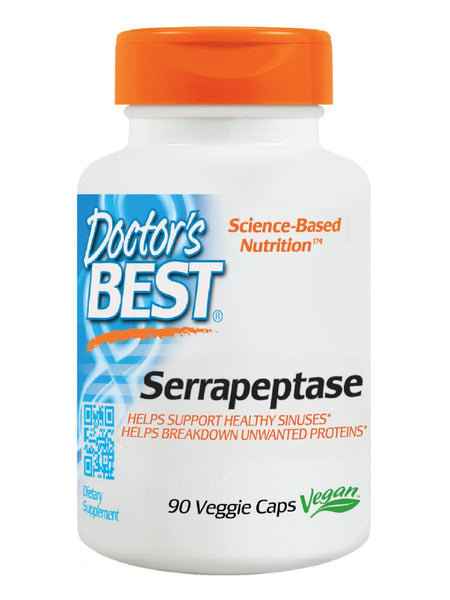 Best Serrapeptase, 40,000 Units, 90 veggie caps, Doctor's Best